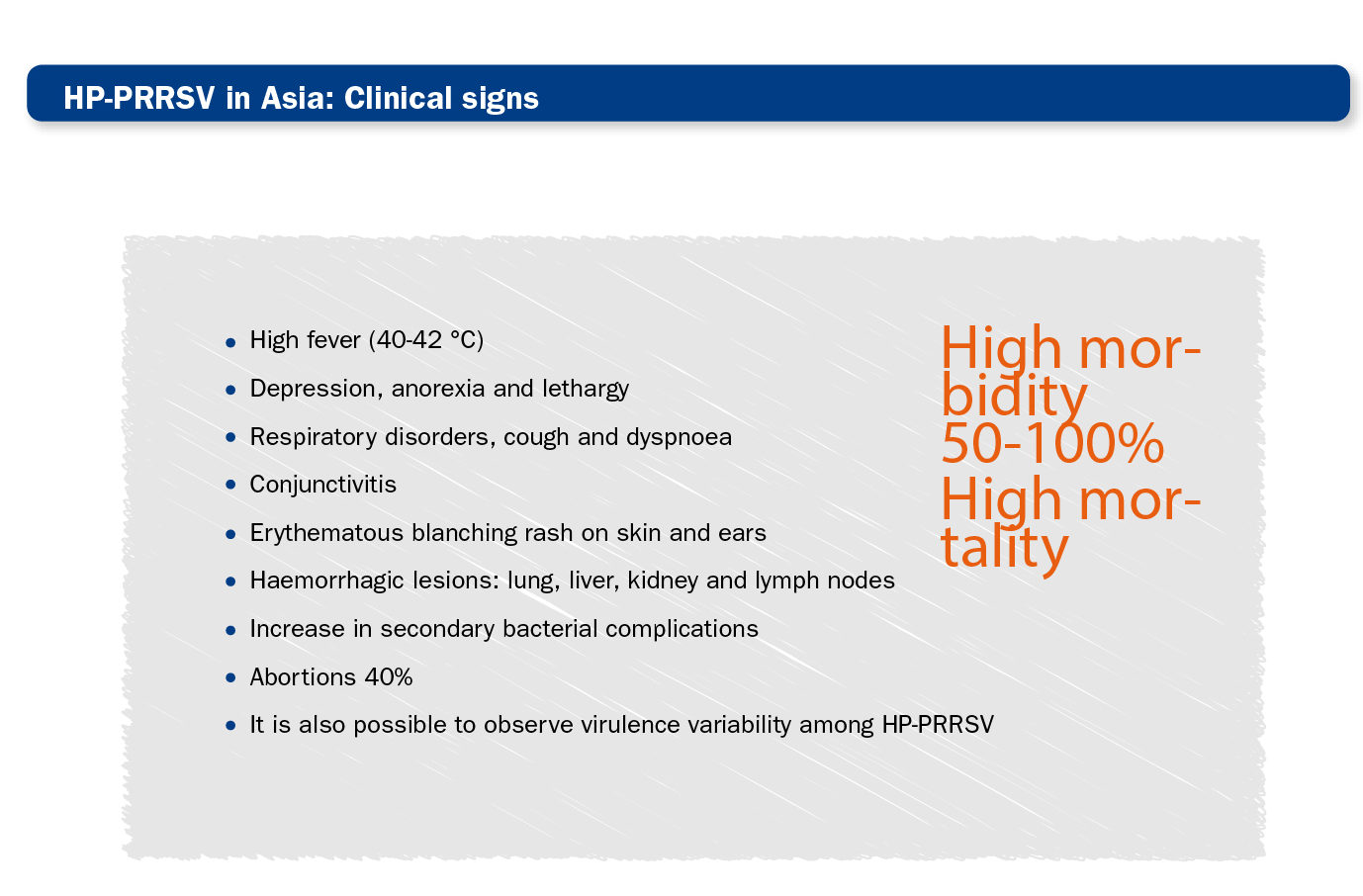 Highly pathogenic PRRS in Asia